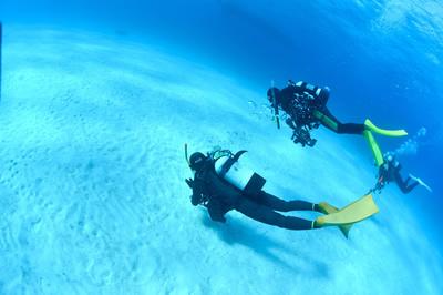 石垣島の海でダイビング